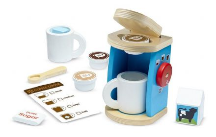 Melissa & Doug Wooden Coffee Maker Set